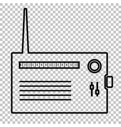 Radio silhouette line icon vector