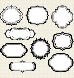 Black label frameselegant ornate frames collectio vector