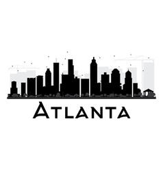 Atlanta city skyline black and white silhouette vector
