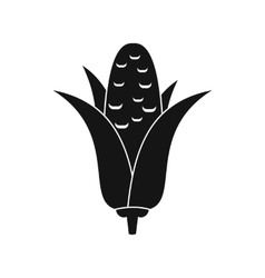 Corncob icon simple style vector