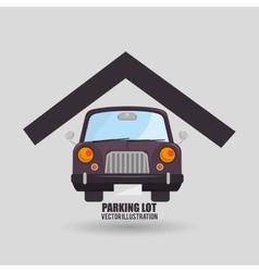 Parking lot design vector