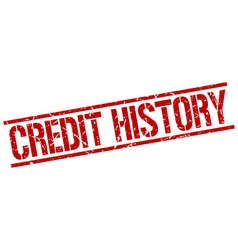 Credit history stamp vector