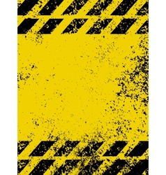 A grungy and worn hazard stripes vector image vector image