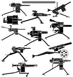 Automatic grenade launcher vector image