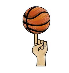 Basketball ball game vector