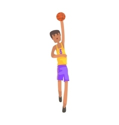 Basketball Player With The Ball Action Sticker vector image vector image