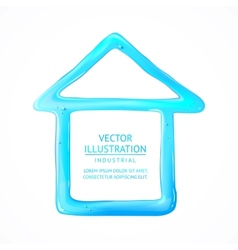 Blue house of drop water vector