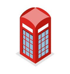 call box in isometric projection vector image vector image