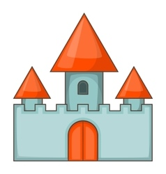 Chillon castle in Montreux icon cartoon style vector image vector image