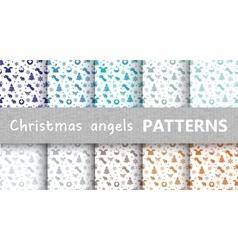 Christmas pastel retro vector image vector image