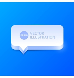 Clean speech bubble vector image