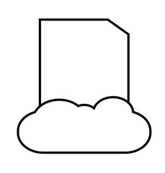 cloud data icon vector image