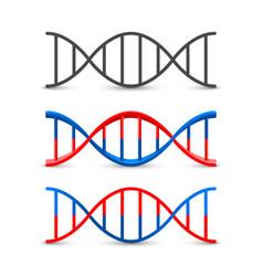 dna symbol set art vector image