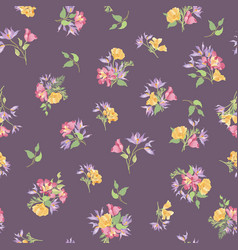 floral ornamental seamless pattern flower garden vector image vector image