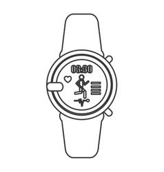 heartrate wrist monitor icon line design vector image
