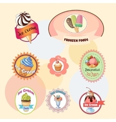 Ice creams collection vector image