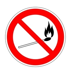 No fire match sign 2006 vector image vector image