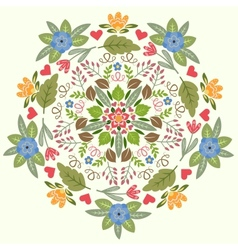 Ornamental floral round pattern vector image vector image