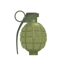 Pineapple hand grenade military weapon vector