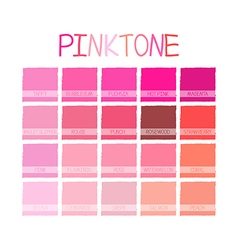 Pinktone color tone vector