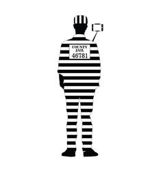 Prisoner with selfie vector