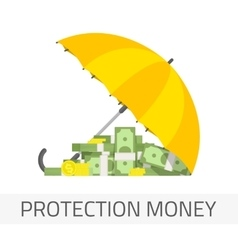 Protection money concept vector image vector image