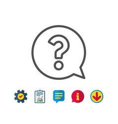 Question mark line icon help speech bubble vector