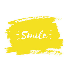 smile hand paint yellow watercolor texture vector image vector image