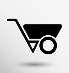 wheelbarrow icon button logo symbol concept vector image vector image