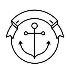 Anchor seal stamp vector