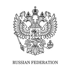 Outlined coat of arms of russia vector