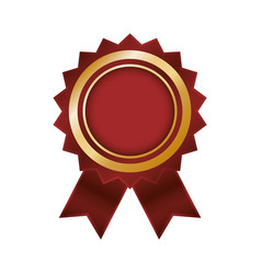 empty award ribbon vector image