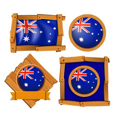 australia flag on different frame designs vector image