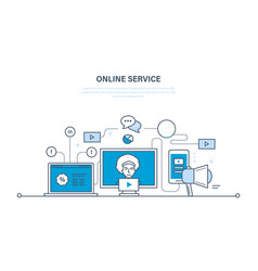 Modern technology communications online services vector