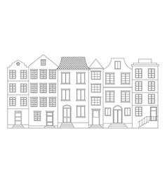 Row of houses vector