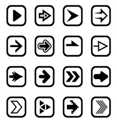 Arrow icons1 vector image
