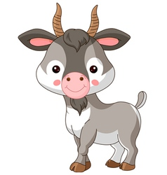 Farm animals goat vector