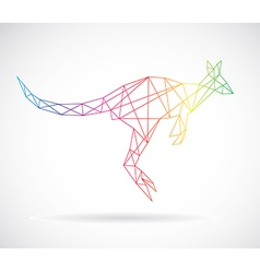 Kangaroos abstract vector image