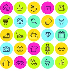 Set of icons for daily shopping vector