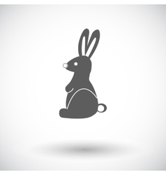 Rabbit single icon vector