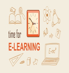 Time for education vector