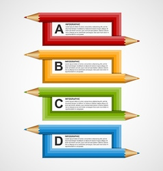 Abstract education pencil option infographics vector