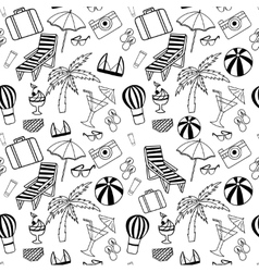 Hand drawn travel seamless pattern for adult vector