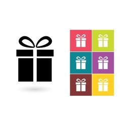 Gift icon or gift symbol vector image