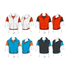 Set of clothes vector