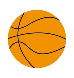 basketball ball isolated icon design vector image vector image