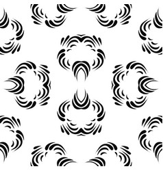 black abstract seamless pattern vector image vector image