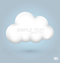 cloud glossy icon vector image