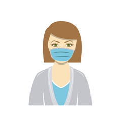 Color people doctor icon image vector