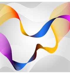 Colored ribbon vector image vector image